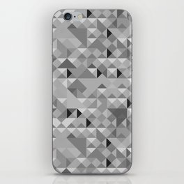 Black and White Geometric Pattern iPhone Skin