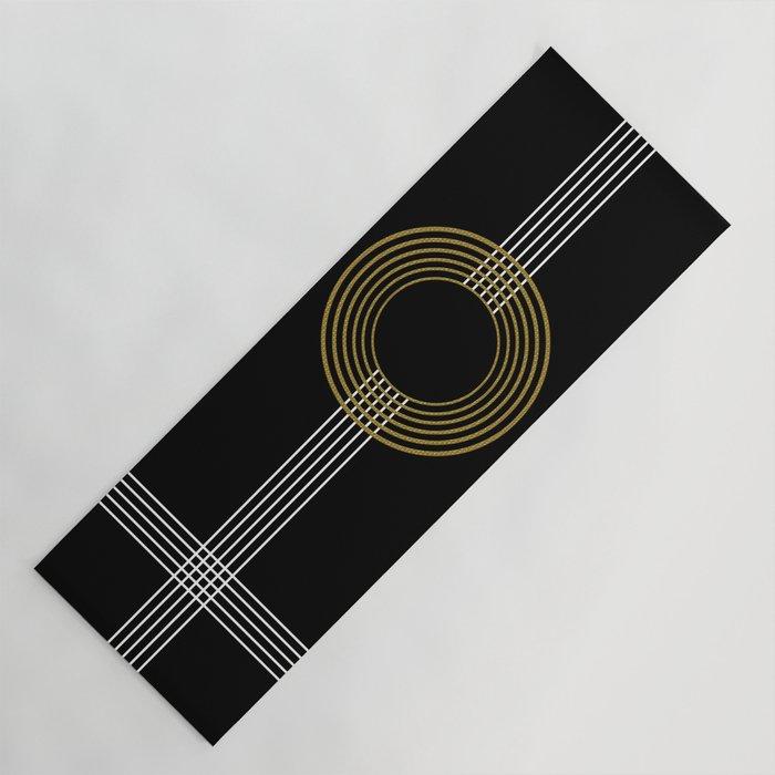 GUITAR IN ABSTRACT (geometric art deco) Yoga Mat
