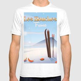 Les Houches France ski poster T-shirt