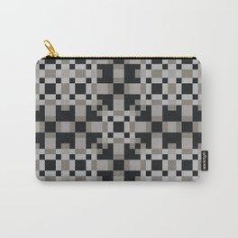 NEUTRAL black white grey symmetrical geometric pattern Carry-All Pouch