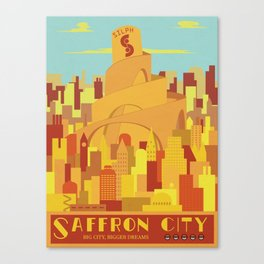 Saffron City Poké Poster Canvas Print