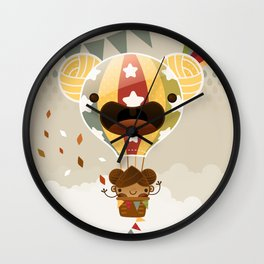 Chestnut Girl Balloon!!! Wall Clock