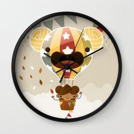 Chestnut Girl Balloon!!! Wall Clock
