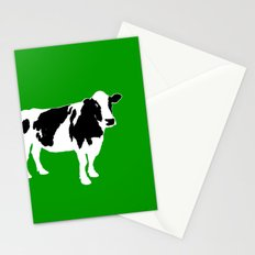Farm cow art Stationery Cards