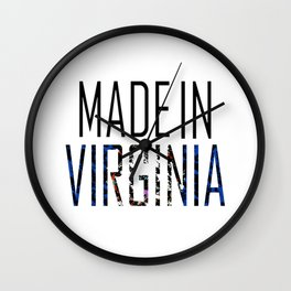 Made In Virginia Wall Clock