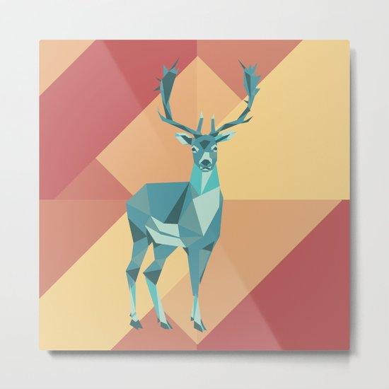 Origami Deer Metal Print