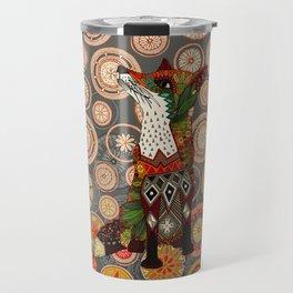 mandala fox Travel Mug