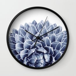 Succulent splendour - chambray Wall Clock