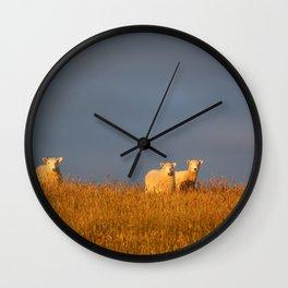 Three Little Sheep Wall Clock
