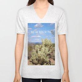 New River Cholla Cactus Unisex V-Neck