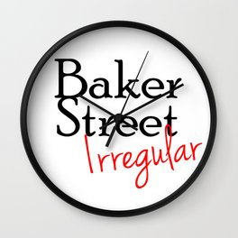 Baker Street Irregular Wall Clock