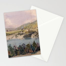 Panorama of West Point from Constitution Island by John Rubens Smith (c 1820) Stationery Cards