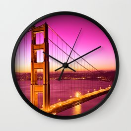 Golden Gate Love Bridge Wall Clock