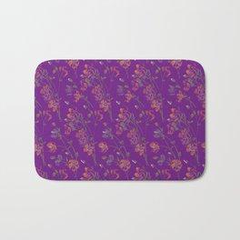 Poppy Floral - Purple Bath Mat