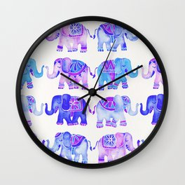 Elephant Collection – Indigo Palette Wall Clock