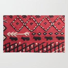 V22 Sheep herd Design Traditional Moroccan Carpet Texture. Rug