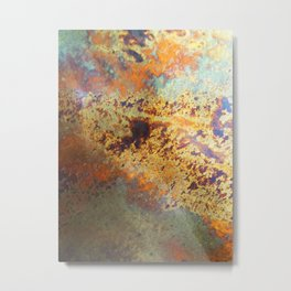 Oil Slick Wall Metal Print