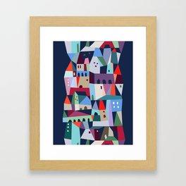 village on the hill Framed Art Print