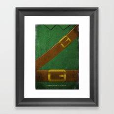 Video Game Poster: Adventurer Framed Art Print
