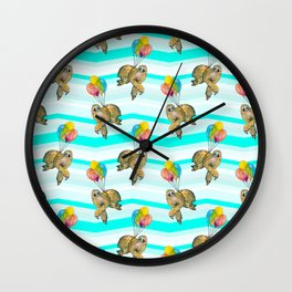 sloths in the air Wall Clock