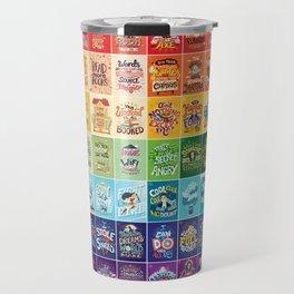 Rainbow of Posters Travel Mug
