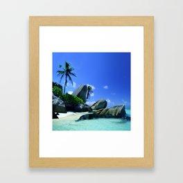 Seychelles Islands: Tropical Heaven Framed Art Print
