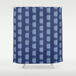 Shibori scratched Shower Curtain