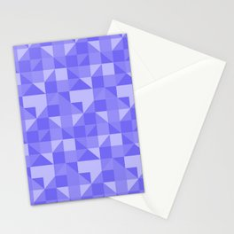 geometric figures lilas Stationery Cards