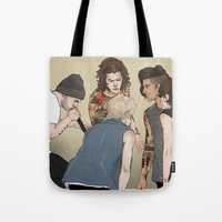 coconutwishes Tote Bags featuring Five by Coconut Wishes