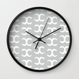 Mutiple Grey X Wall Clock