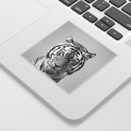 Tiger - Black & White Sticker