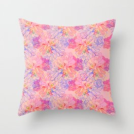 psychedelic succulent Throw Pillow
