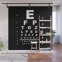 Inverted Eye Test Chart Wall Mural