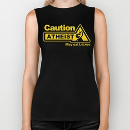 Caution - Atheist Biker Tank