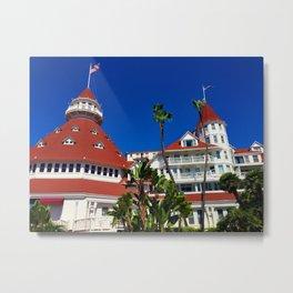 Hotel Del Coronado Facade Metal Print