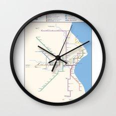Milwaukee Transit System Map Wall Clock