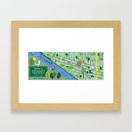 Map of Fremont Framed Art Print