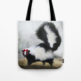 Ms. Skunk on her Own Tote Bag