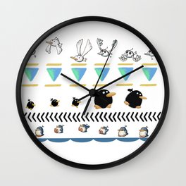 Indigenous Birds of the Island of Yoshi Wall Clock
