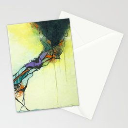 Glass and Smoke  - Square Abstract Expressionism Paintng Stationery Cards