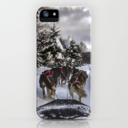 Running With the Dogs iPhone Case