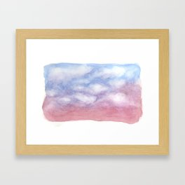 Sunset Clouds Watercolor Framed Art Print