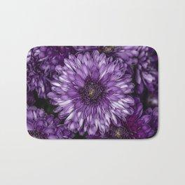 Purple Mums Bath Mat