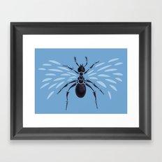 Weird Abstract Flying Ant Framed Art Print