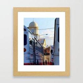 Alajuela Buses Framed Art Print