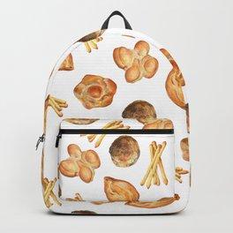 Watercolor Bread Illustration pattern | Italian breads | Baking pattern | Kitchen pattern Backpack