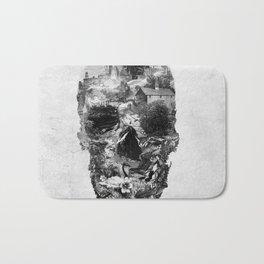 Town Skull B&W Bath Mat