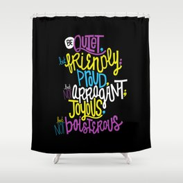 Peaceful Protest Shower Curtain
