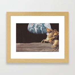 taking earth Framed Art Print