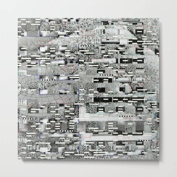 Highly Resolved Ghost (P/D3 Glitch Collage Studies) Metal Print